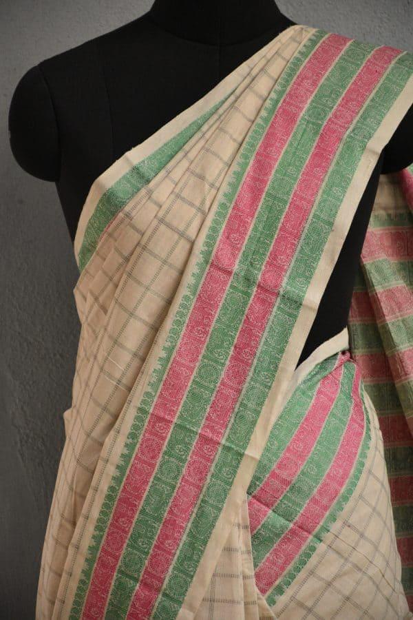 off white kanchi cotton saree3
