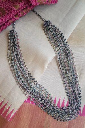 tourmaline silver bunch chain