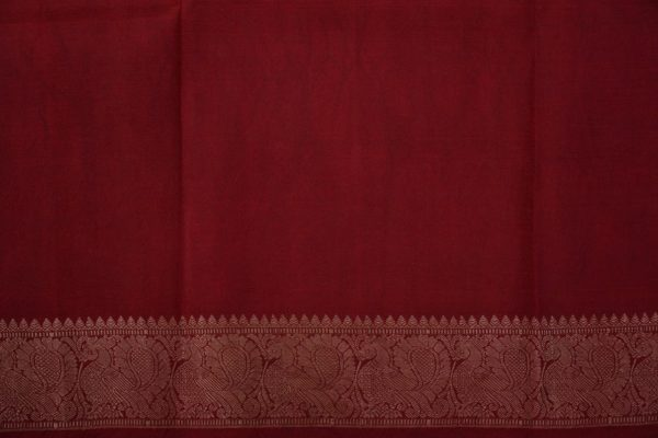 Beige with red thread woven korvai kanchi silk saree with kalamkari 4