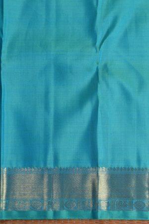 Blue checks kanchi silk saree 2