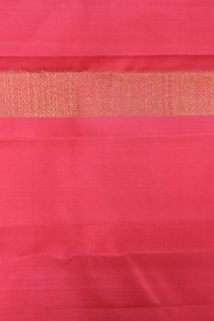 Peach long border kanchi silk saree 3