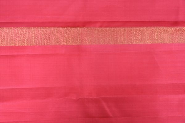 Peach long border kanchi silk saree 3