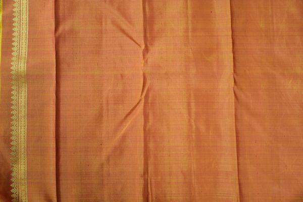 Red vanasingaram brocade kanchi silk saree 3
