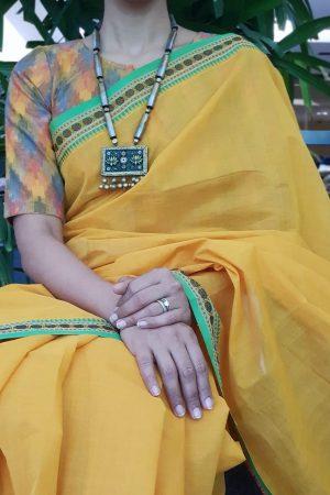 multicolour ikat blouse