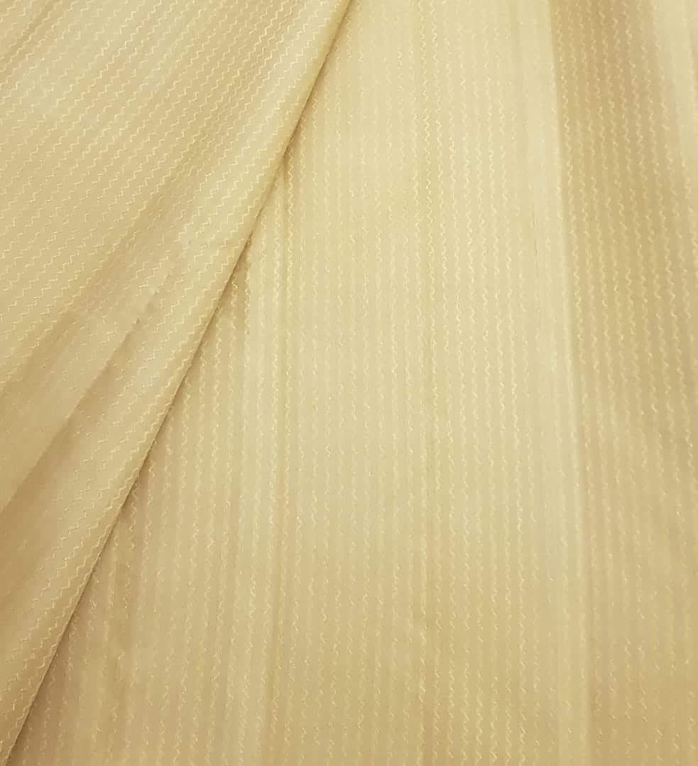 Beige chevron kanchi silk zari fabric