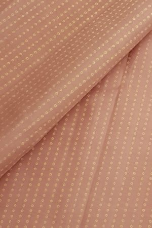 Blush pink kanchi silk dots fabric