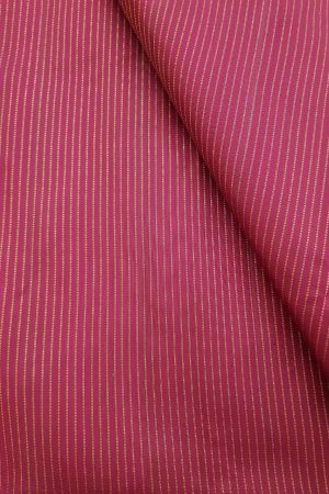 Deep pink stripes kanchi silk fabric