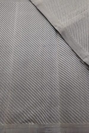 Grey jacquard kanchi silk fabric