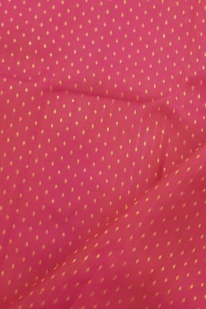 Pink dots kanchi silk fabric