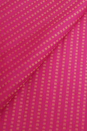 Pink kanchi silk zari fabric