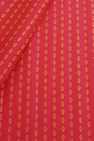 Red zari kanchi silk fabric