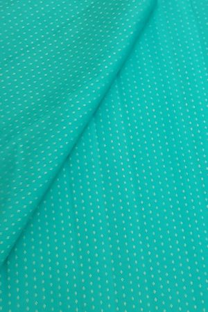 Teal zari kanchi silk fabric