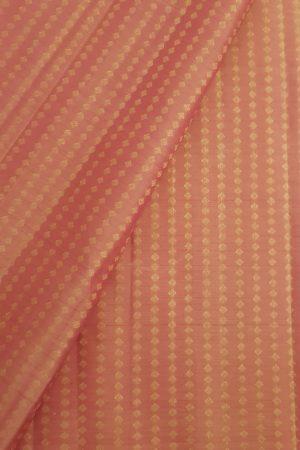 peach zari kanchi silk fabric