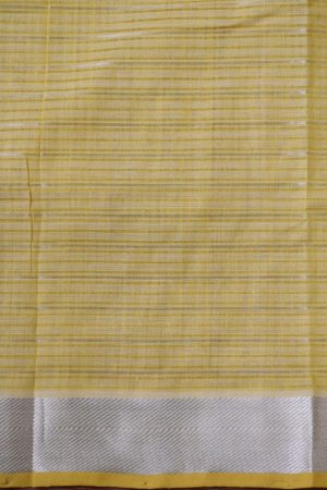 Beige silver zari checks mangalagiri cotton saree 1