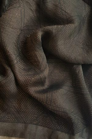 Black rich soy silk saree 1
