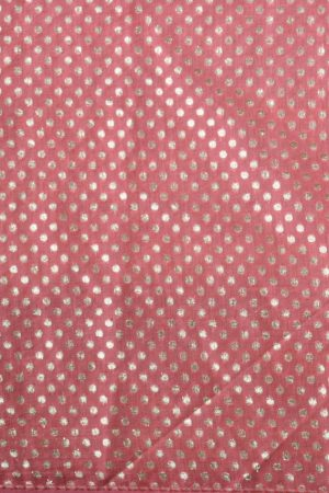 Cream and peach floral printed organza saree blouse