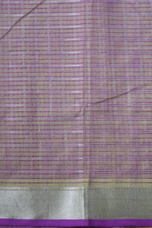 Green silver zari checks mangalagiri cotton saree 2