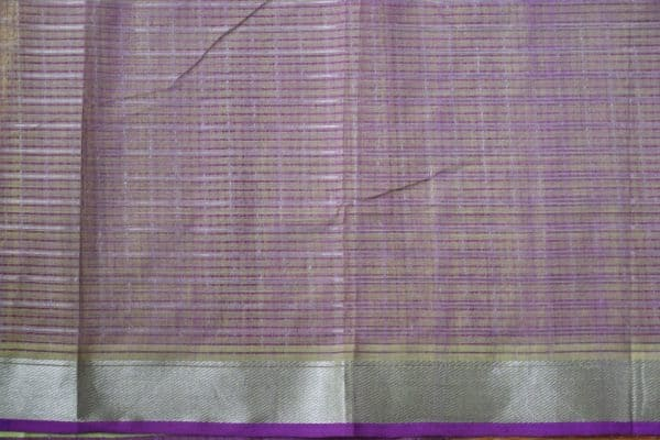 Green silver zari checks mangalagiri cotton saree 2