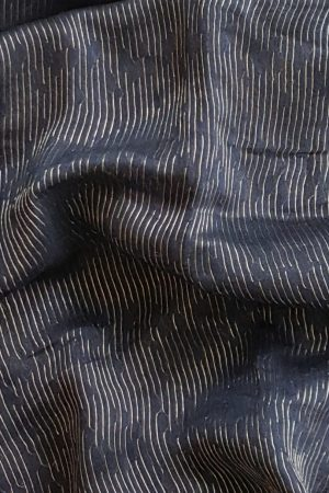 Navy blue rich soy silk saree 1