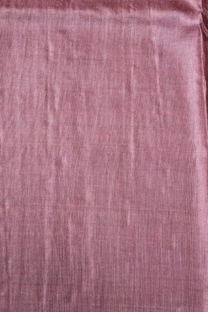 Pale maroon self woven handloom tussar saree 1