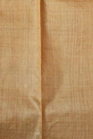 Pale mustard self woven handloom tussar saree 1
