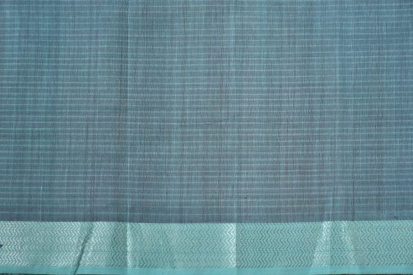 Purple teal mangalagiri missing checks cotton saree 2