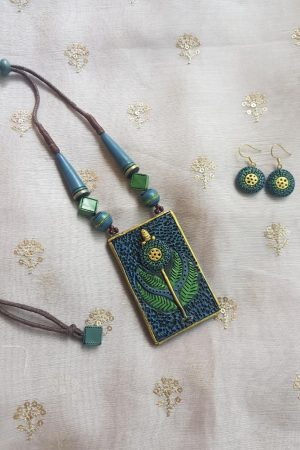 blue green small terracotta set