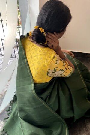 dark green lavanyam kanchi silk saree1