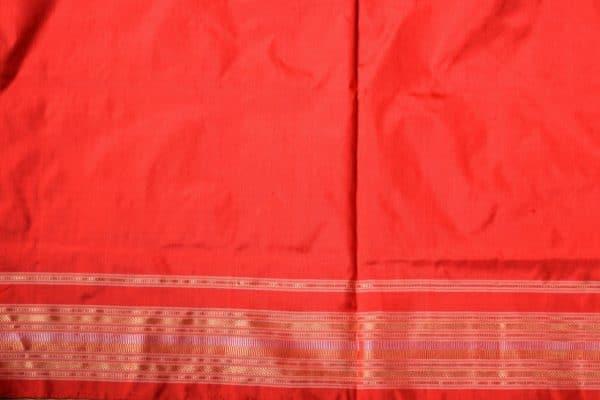 red ikat tussar saree 2