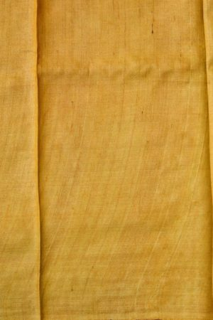 Beige yellow paisley print tussar saree 2