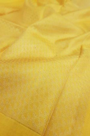 Brown kanchipuram silk saree with yellow brocade pallu and blouse