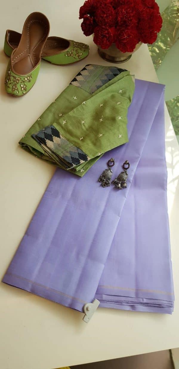 Lavendar lavanyam kanchi silk saree