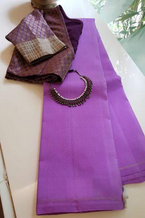 Lilac lavanyam kanchi silk saree