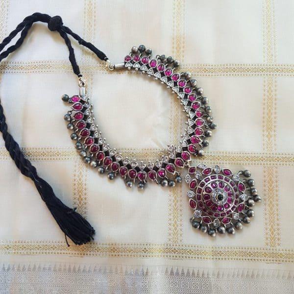 Pink adigai silver