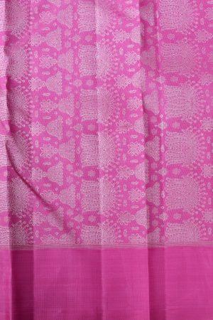 Pink kanchi silk with jhumka pallu 2