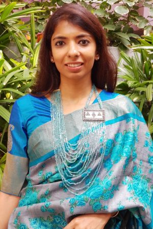 Rama blue kanchi silk blouse