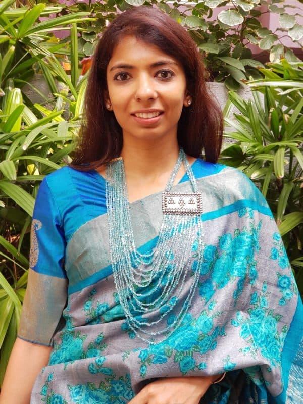 Rama blue kanchi silk blouse