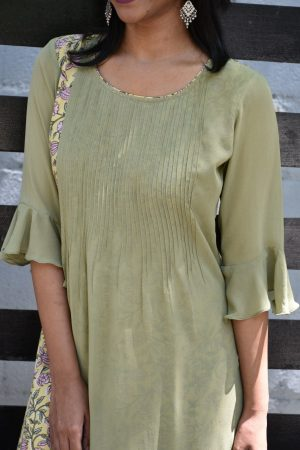 pale green georgette kurta