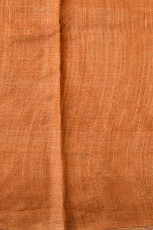 Mustard ombre block print tussar saree blouse