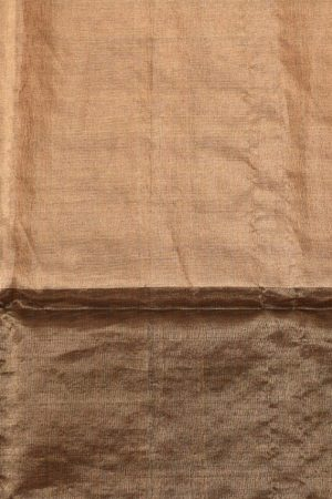 Black gold organza tissue sequins saree 3