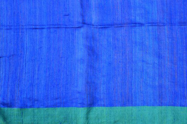 Blue green matka silk sequinned saree 2