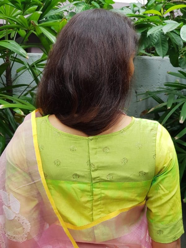 Lime green ikat blouse (1)