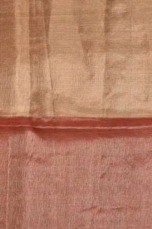 Maroon gold organza tissue sequins saree 2