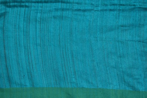 Turquoise and green matka silk sequinned saree 2