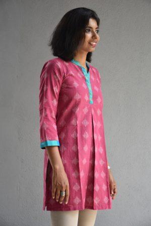 Pink ikat tunic
