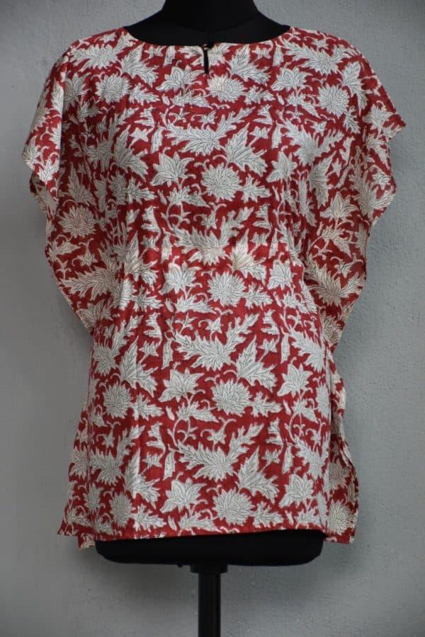 Red kaftan cotton