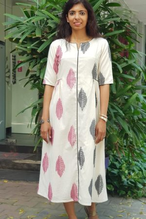Beige ikat dress