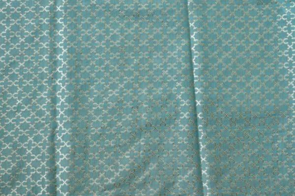 Blue aqua shaded organza saree 2