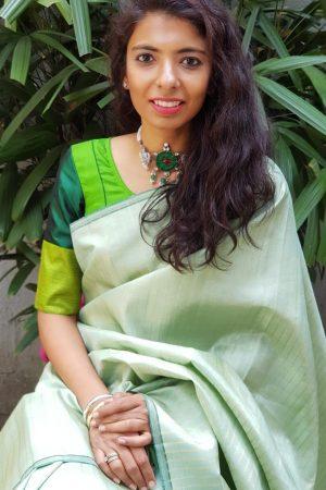 Green kanchi silk blouse
