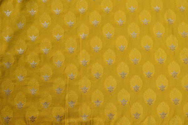 Grey yellow linen saree blouse